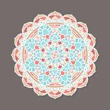 Mandala lineless coloré d'isolement de vecteur Images libres de droits
