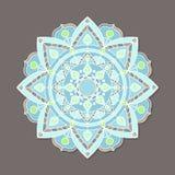 Mandala lineless coloré d'isolement de vecteur Photo stock