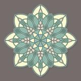 Mandala lineless coloré d'isolement de vecteur Photographie stock libre de droits