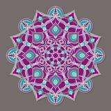 Mandala lineless coloré d'isolement de vecteur Photos stock