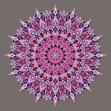 Mandala lineless coloré d'isolement de vecteur Images stock