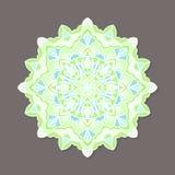 Mandala lineless coloré d'isolement de vecteur dans des couleurs en pastel Images libres de droits