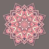 Mandala lineless coloré d'isolement de vecteur dans des couleurs en pastel Photo libre de droits
