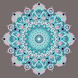 Mandala lineless coloré d'isolement de vecteur dans des couleurs en pastel Photos libres de droits