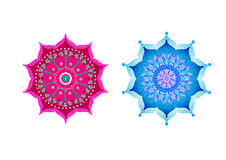Mandala with lotus Royalty Free Stock Images