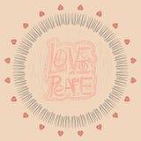 Mandala. Love and peace Stock Photography
