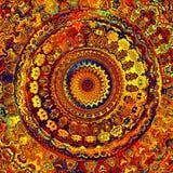 Mandala luminosa immagini stock