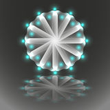 Mandala luminosa Immagine Stock