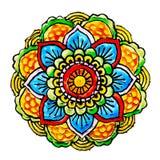 Mandala målat handgjort stock illustrationer