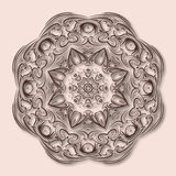 Mandala made of paper, decorative element in Oriental style. Vector illustration Royalty Free Stock Photography