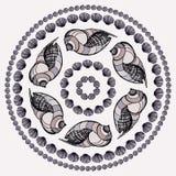 Mandala made of Seashells. vector illustration