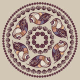 Mandala made of Seashells. Royalty Free Stock Photos