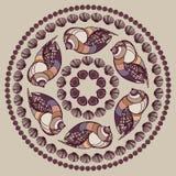 Mandala made of Seashells. Royalty Free Stock Photos