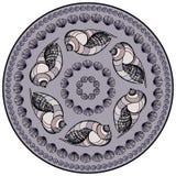 Mandala made of Seashells. Royalty Free Stock Photo