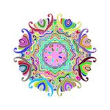 Mandala1. Mandala coloful,outline mandalas inspired arabian and indian, tibetan ornament. Adult coloring page.decorative element for ethnic shop or as pattern vector illustration