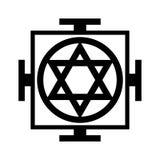 Mandala - mapa Wszechrzeczy Orientalny Sakralny Religijny symbol Zdjęcie Stock