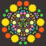 Mandala mecánica Steampunk Ilustración brillante del vector Imagen de archivo