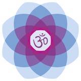Mandala med `-Aum `, Royaltyfria Bilder