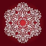 Mandala med fjärilar för laser-klipp Spets- rund prydnad vektor illustrationer