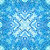 Mandala med handgjord vattenfärgtextur för konst Royaltyfri Foto