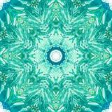 Mandala med handgjord vattenfärgtextur för konst Royaltyfria Bilder