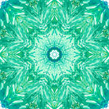Mandala med handgjord vattenfärgtextur för konst Arkivbild