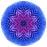 Mandala med handgjord vattenfärgtextur för konst Royaltyfri Bild