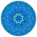 Mandala med handgjord vattenfärgtextur för konst Fotografering för Bildbyråer
