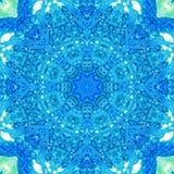 Mandala med handgjord vattenfärgtextur för konst Royaltyfria Foton