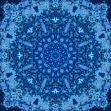 Mandala med handgjord vattenfärgtextur för konst Royaltyfri Fotografi