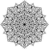 Mandala med svart kontur Royaltyfria Foton