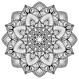 Mandala med tunna linjer Royaltyfri Fotografi