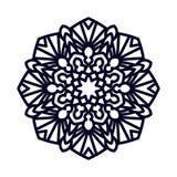 mandala Meditación india de la boda stock de ilustración