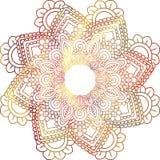 Mandala mehndi ethnisches Paisley-buta hindische orientalische Verzierung, rot lizenzfreie stockbilder