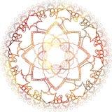 Mandala mehndi ethnisches Paisley-buta hindische orientalische Verzierung, rot stockbild