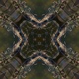 Mandala metallica, fondo astratto symetric Fotografia Stock