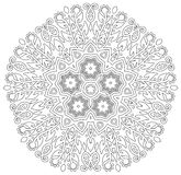 Mandala mit Blumen-Design Stockfotos