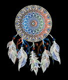 Mandala mit dreamcatcher Stockfoto