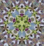 Mandala mit Schreibheften Stockfotografie