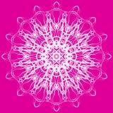 mandala Modèle rond décoratif de dentelle de couleur Images stock