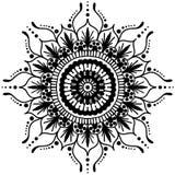 mandala Modèle rond d'ornement Éléments décoratifs de cru Fond tiré par la main L'Islam, l'arabe, motifs indiens de tabouret illustration stock