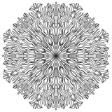 mandala Modèle rond d'ornement de vintage Fleur fantastique l'islam Photographie stock