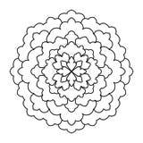 mandala Modèle rond d'ornement de vintage Islamique, arabe, indien Image stock