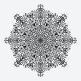 mandala modello monocromatico circolare floreale Immagine Stock