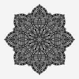 mandala modello monocromatico geometrico circolare Fotografie Stock