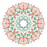mandala Modelo coloreado redondo del ornamento Fotos de archivo