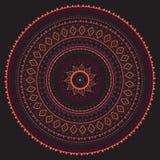 mandala Modelo decorativo indio Imágenes de archivo libres de regalías
