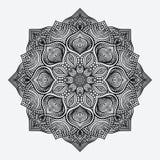 mandala modelo monocromático circular Imagen de archivo