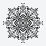 mandala modelo monocromático circular floral Imagen de archivo