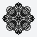 mandala modelo monocromático geométrico circular Fotos de archivo